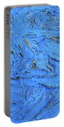 Untitled-weathered Wood Design In Blue Portable Battery Charger
