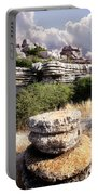 Unusual Rock Formations In The El Torcal Mountains Near Antequera Spain Portable Battery Charger