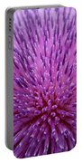Up Close On Musk Thistle Bloom Portable Battery Charger