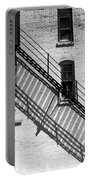 Up The Fire Escape Abstract Portable Battery Charger