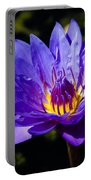 Upbeat Violet Elegance - The Beauty Of Waterlilies  Portable Battery Charger