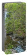 Upper And Middle Falls At Mine Kill State Park Portable Battery Charger