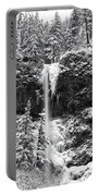 Upper Falls In Snow's Cover Portable Battery Charger
