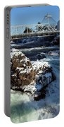 Upper Falls Winter - Spokane Portable Battery Charger