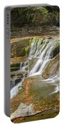 Upper Gorge Falls Of Enfield Glen In Treman State Park Portable Battery Charger