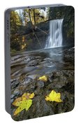 Upper North Falls In Autumn Portable Battery Charger