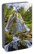 Upper Tier Of Falls Creek Falls In Summer Portable Battery Charger
