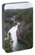 Upper Yellowstone Falls Portable Battery Charger