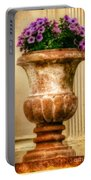 Urn With Purple Flowers Portable Battery Charger
