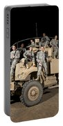 U.s. Army Medical Personnel Pose Portable Battery Charger