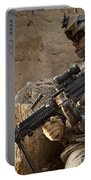 U.s. Army Ranger In Afghanistan Combat Portable Battery Charger by Tom Weber