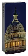 U.s. Capitol At Night Portable Battery Charger