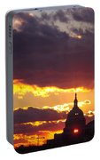 U.s. Capitol Dome At Sunset Portable Battery Charger