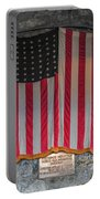 Us Flag At Whiteface Mountain Ny Portable Battery Charger