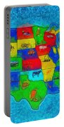 Us Map With Theme  - Special Finishing -  - Pa Portable Battery Charger