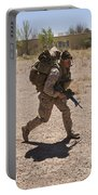 U.s. Marine Runs To The Uh-60 Black Portable Battery Charger