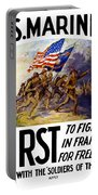Us Marines - First To Fight In France Portable Battery Charger