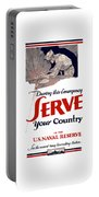 Us Naval Reserve Serve Your Country Portable Battery Charger