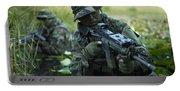 U.s. Navy Seals Cross Through A Stream Portable Battery Charger