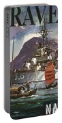 U.s. Navy Travel Poster Portable Battery Charger