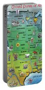 Usa Cartoon Map Portable Battery Charger