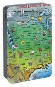 Usa Cartoon Map Portable Battery Charger