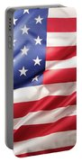 Usa Flag Detail Portable Battery Charger