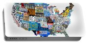 Usa License Plates Map 4p Portable Battery Charger