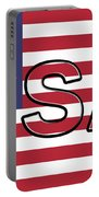 Usa On The American Flag Portable Battery Charger
