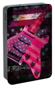 Usa Pink Strat Guitar Music Portable Battery Charger
