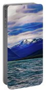 Ushuaia Ar Ocean Mountains Clouds Portable Battery Charger