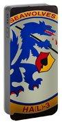Usn Seawolves Logo Portable Battery Charger