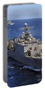 Uss Comstock Leads A Convoy Of Ships Portable Battery Charger