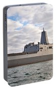 Uss Portland Lpd-27 In Key West Portable Battery Charger