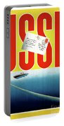 Ussr Vintage Cruise Travel Poster Restored Portable Battery Charger
