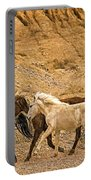 Ute Mountain Wild Horses On The Run Portable Battery Charger