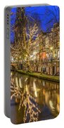 Utrecht Old Canal By Night Portable Battery Charger