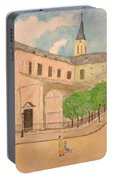 Utrillo And Church Seasonal Change In Paris By Japanese Artist Portable Battery Charger