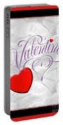 Valentine Script Portable Battery Charger