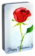 Valentine's Day Rose Portable Battery Charger