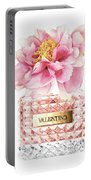 Valentino Pink With Peony Portable Battery Charger
