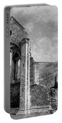 Valle Crucis Abbey Monochrome Portable Battery Charger