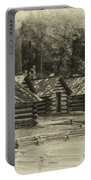 Valley Forge Barracks In Sepia Portable Battery Charger