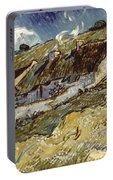 Van Gogh: Cottages, 1890 Portable Battery Charger