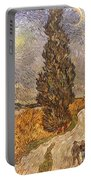 Van Gogh: Cypresses, 1889 Portable Battery Charger