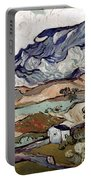 Van Gogh: Landscape, 1890 Portable Battery Charger