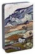 Van Gogh: Landscape, 1890 Portable Battery Charger