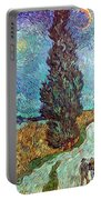 Van Gogh: Road, 1890 Portable Battery Charger
