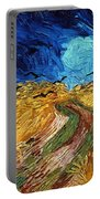 Van Gogh: Wheatfield, 1890 Portable Battery Charger