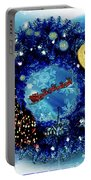 Van Gogh's Starry Night Wreath Portable Battery Charger
